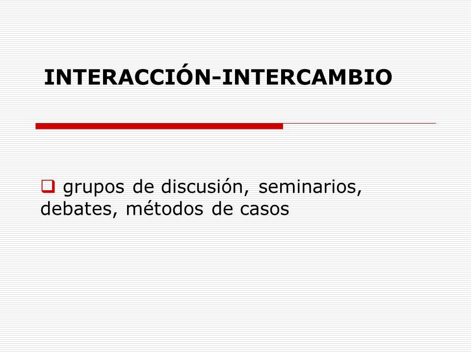 grupos de discusión, seminarios, debates, métodos de casos