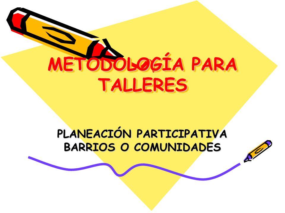 METODOLOGÍA PARA TALLERES