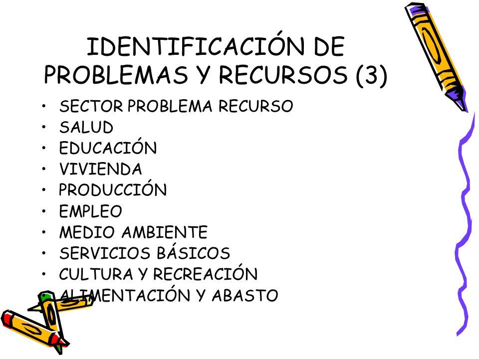 IDENTIFICACIÓN DE PROBLEMAS Y RECURSOS (3)