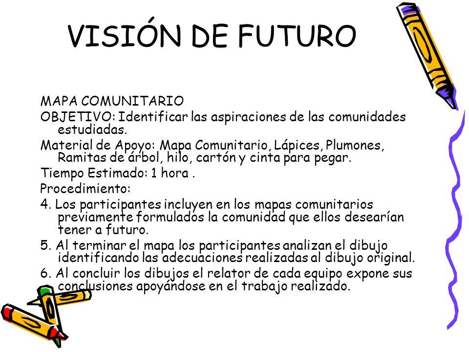 VISIÓN DE FUTURO MAPA COMUNITARIO