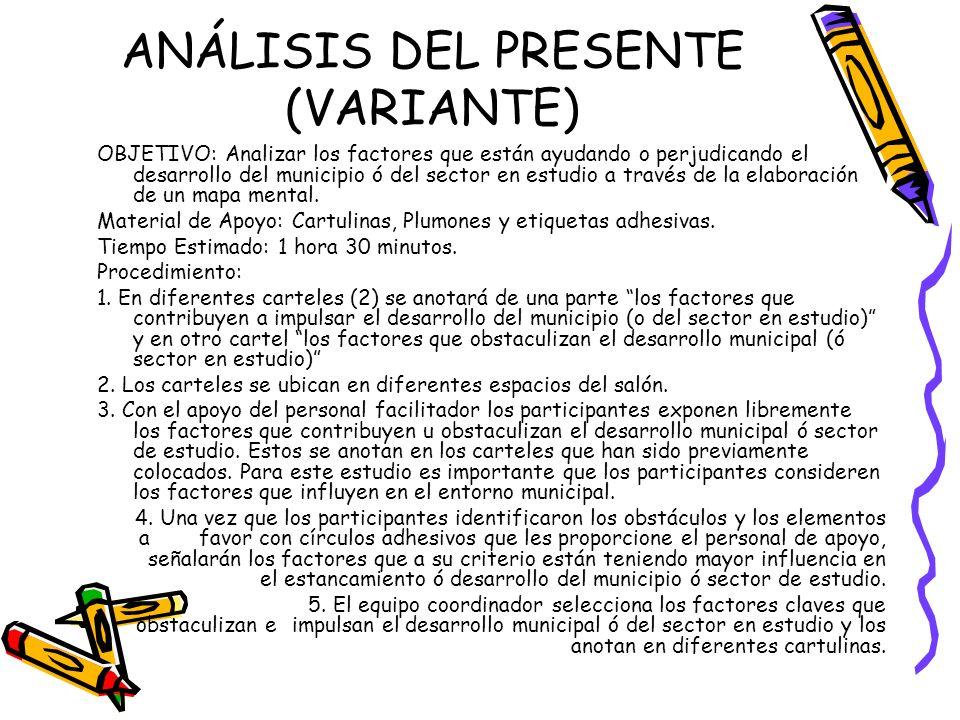 ANÁLISIS DEL PRESENTE (VARIANTE)