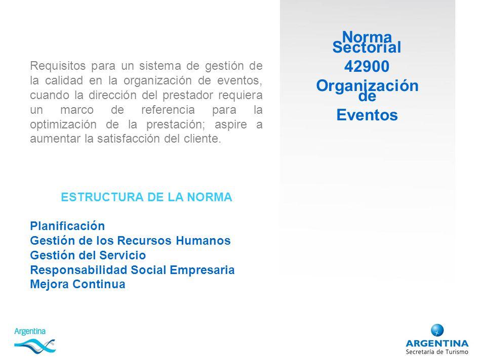 Norma Sectorial 42900 Organización de Eventos