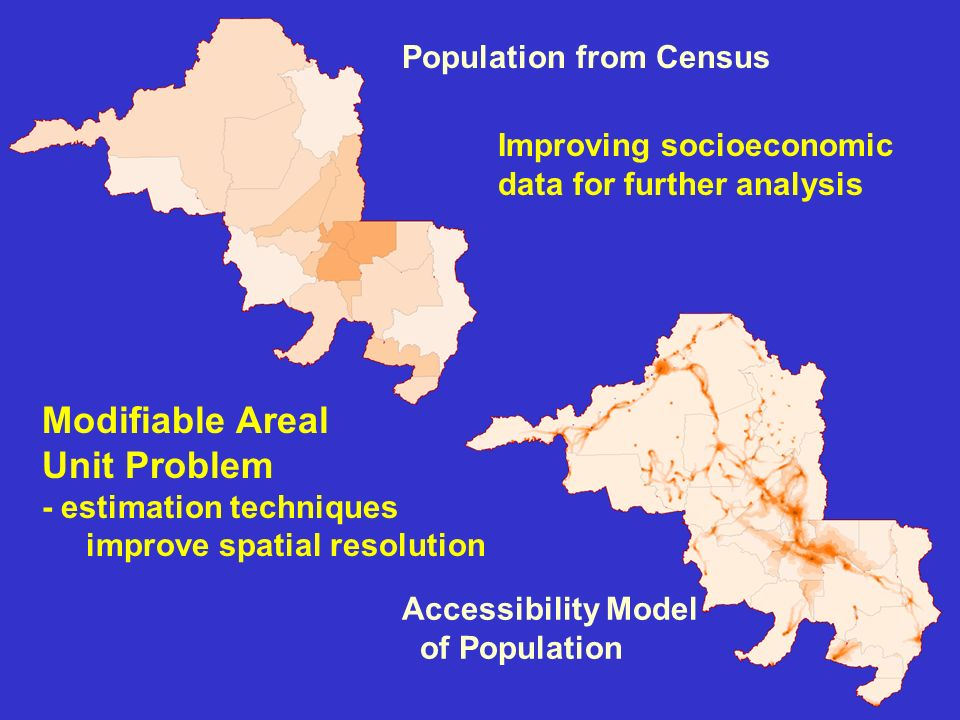 Modifiable Areal Unit Problem Population from Census
