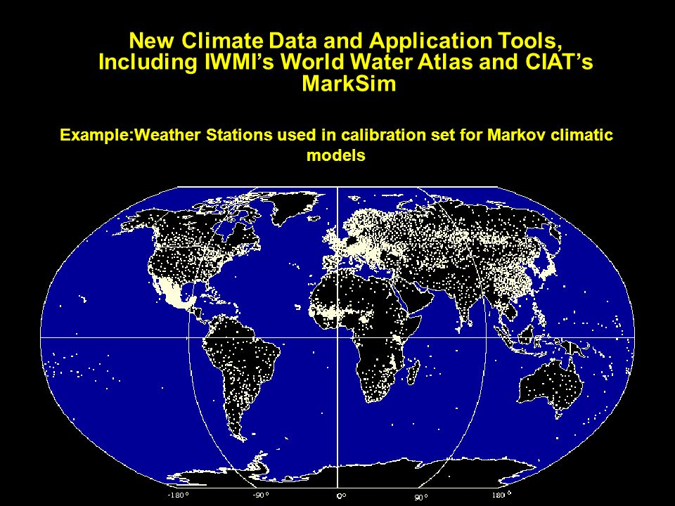 New Climate Data and Application Tools,