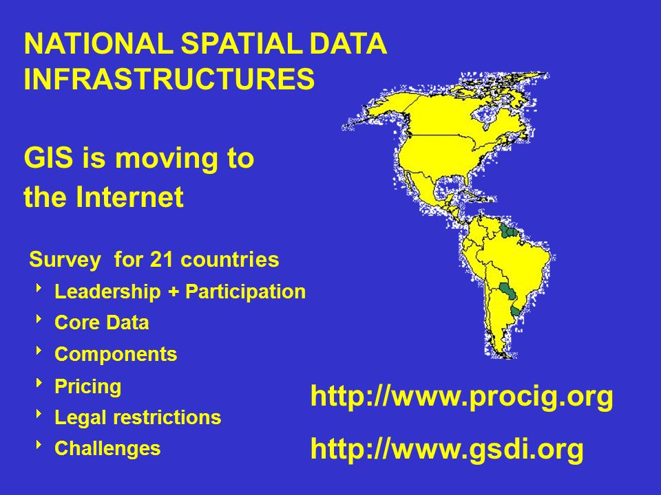 NATIONAL SPATIAL DATA INFRASTRUCTURES