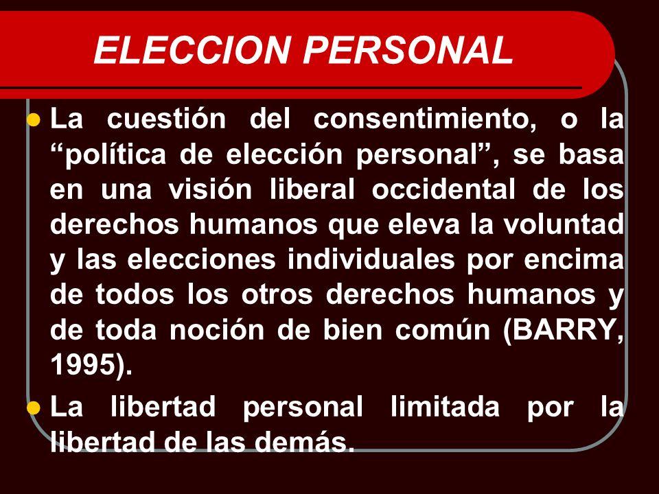 ELECCION PERSONAL