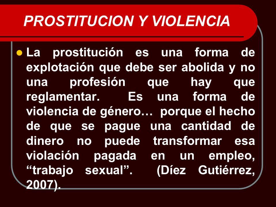 PROSTITUCION Y VIOLENCIA