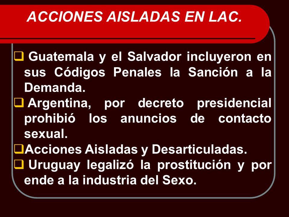 ACCIONES AISLADAS EN LAC.