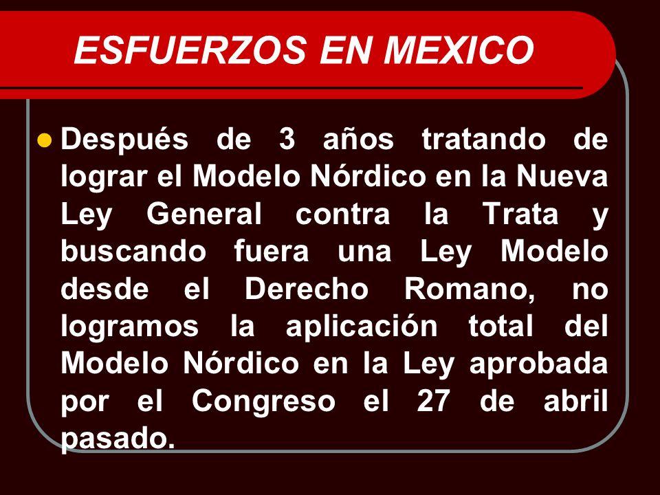 ESFUERZOS EN MEXICO
