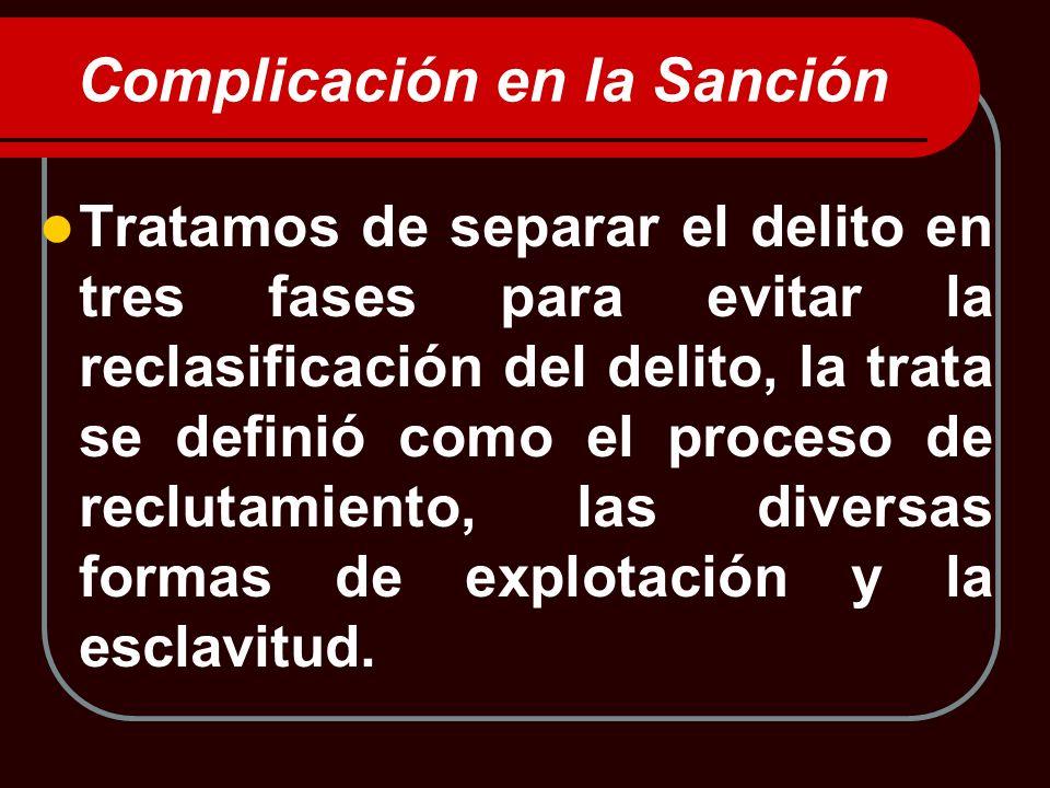 Complicación en la Sanción