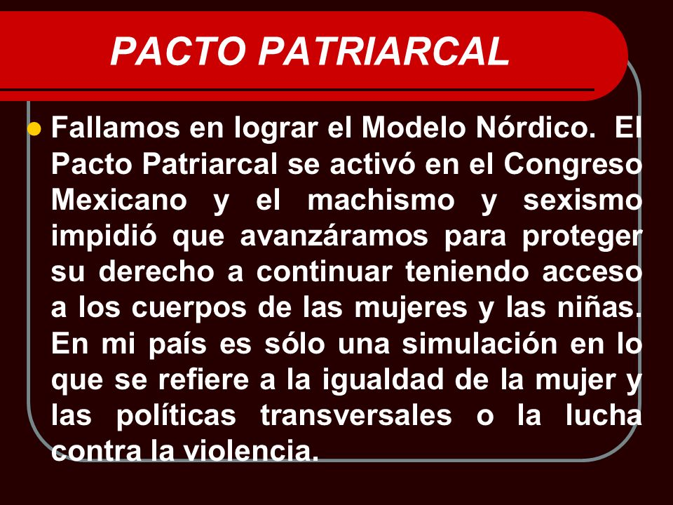PACTO PATRIARCAL