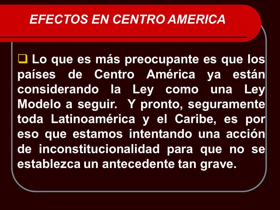 EFECTOS EN CENTRO AMERICA