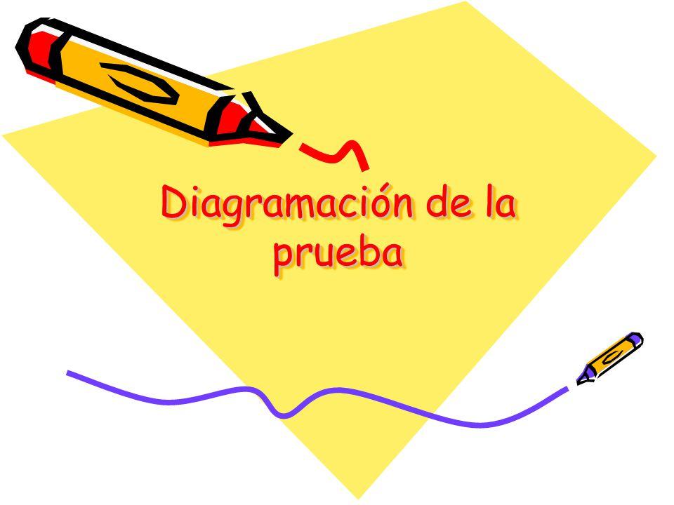 Diagramación de la prueba