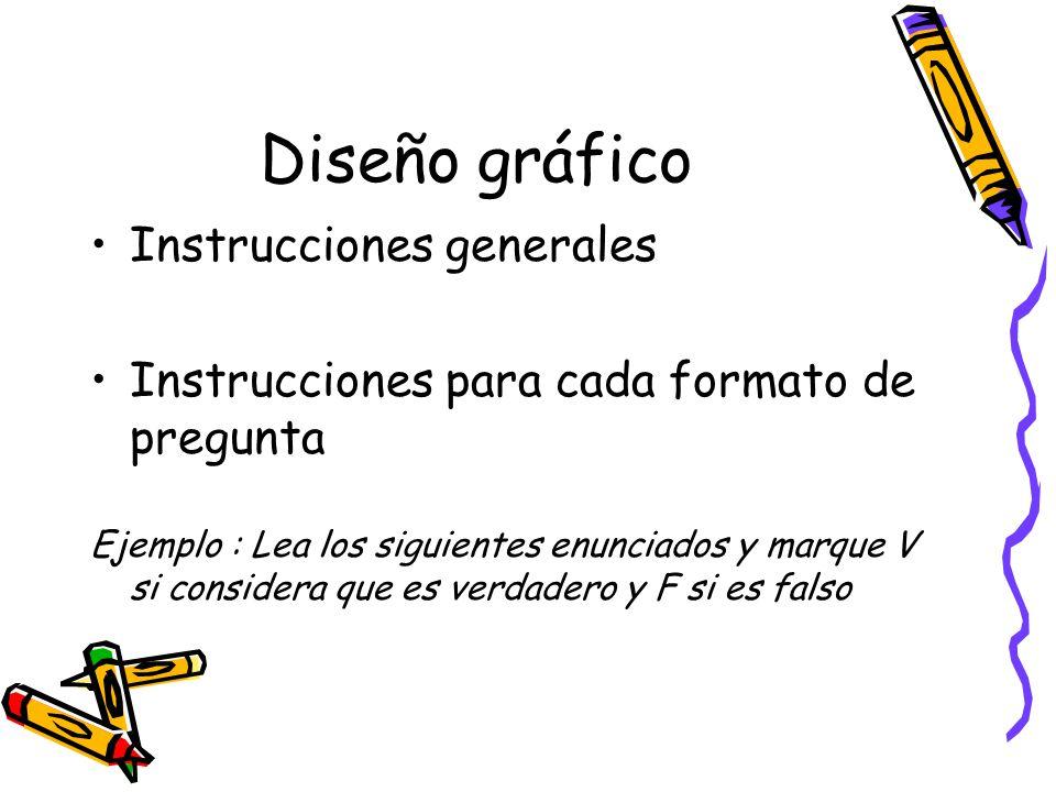 Diseño gráfico Instrucciones generales