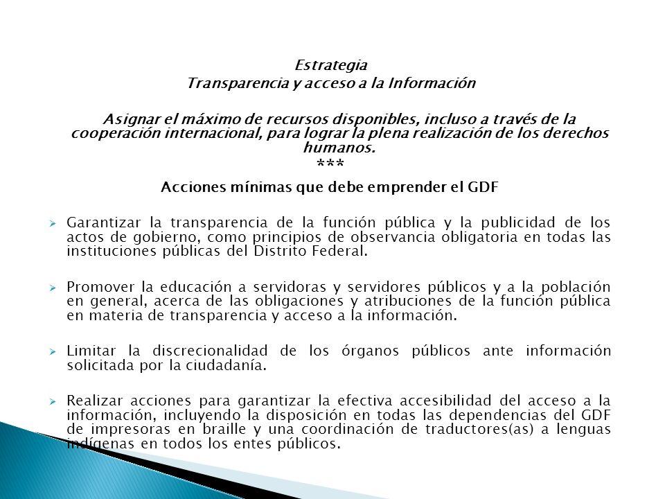 *** Estrategia Transparencia y acceso a la Información