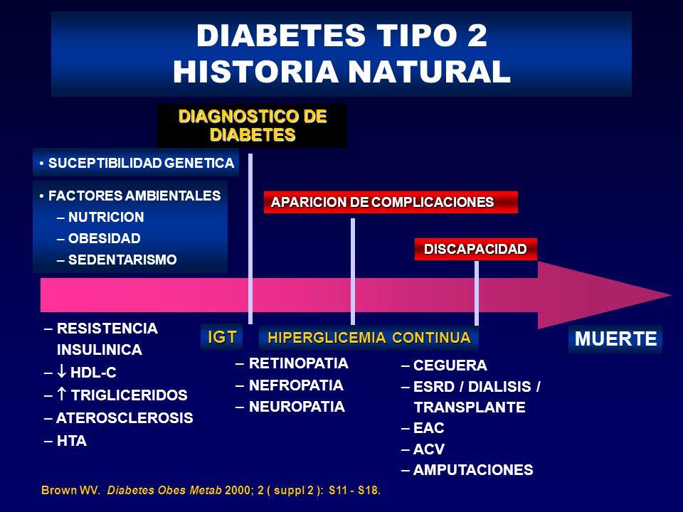 DIABETES TIPO 2 HISTORIA NATURAL