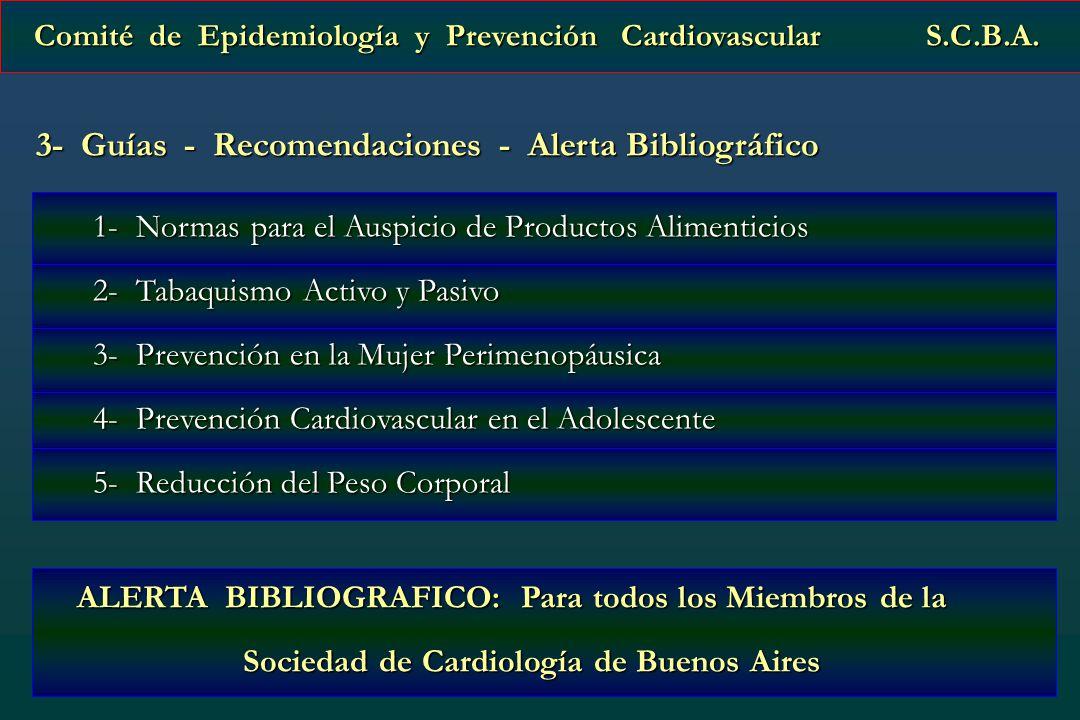 3- Guías - Recomendaciones - Alerta Bibliográfico