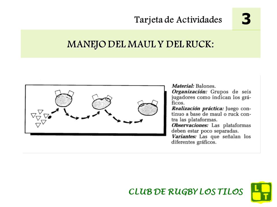 MANEJO DEL MAUL Y DEL RUCK: