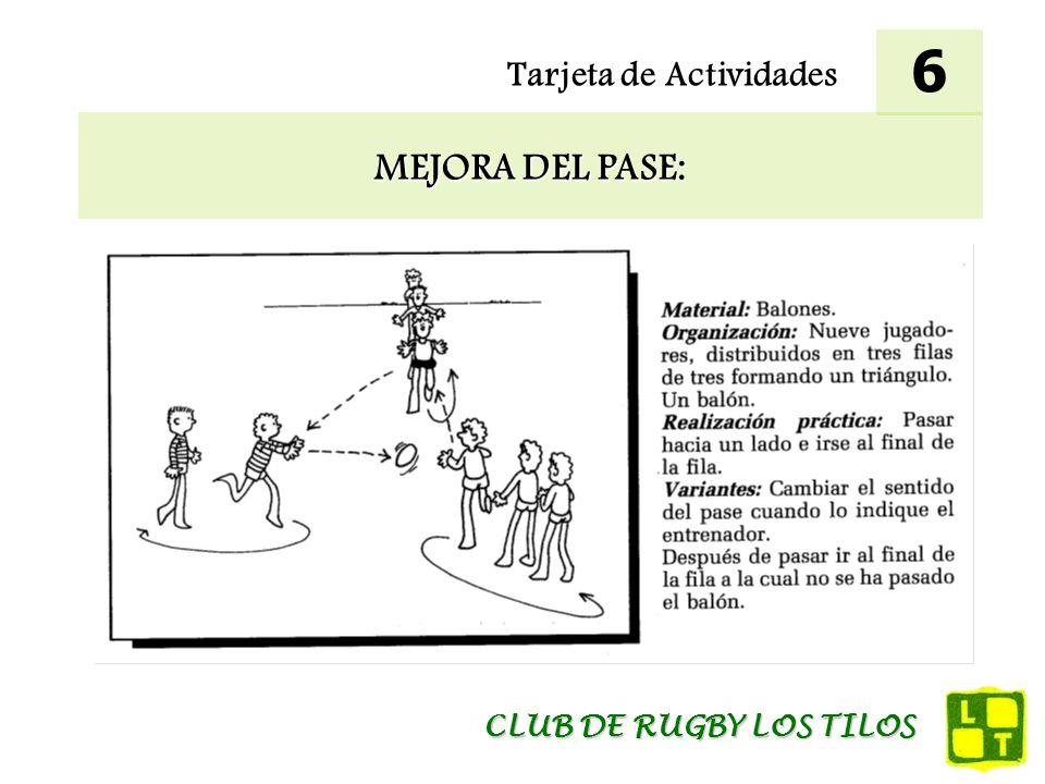 6 Tarjeta de Actividades MEJORA DEL PASE: CLUB DE RUGBY LOS TILOS