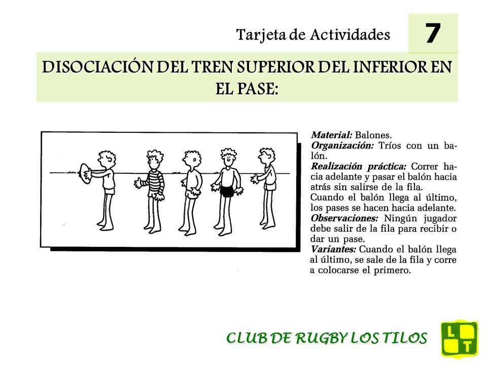 DISOCIACIÓN DEL TREN SUPERIOR DEL INFERIOR EN EL PASE:
