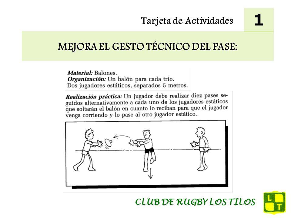 MEJORA EL GESTO TÉCNICO DEL PASE: