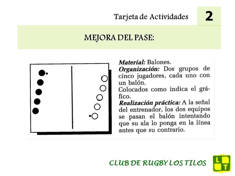 2 Tarjeta de Actividades MEJORA DEL PASE: CLUB DE RUGBY LOS TILOS