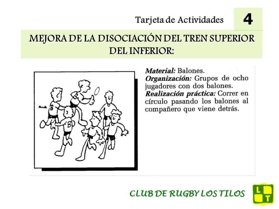 MEJORA DE LA DISOCIACIÓN DEL TREN SUPERIOR DEL INFERIOR: