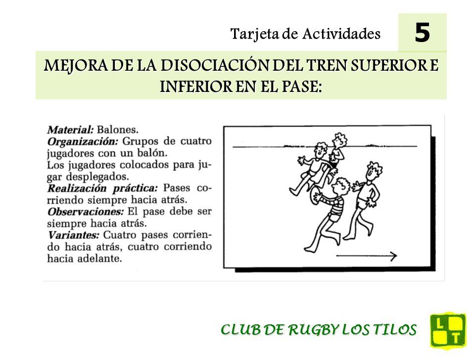 MEJORA DE LA DISOCIACIÓN DEL TREN SUPERIOR E INFERIOR EN EL PASE: