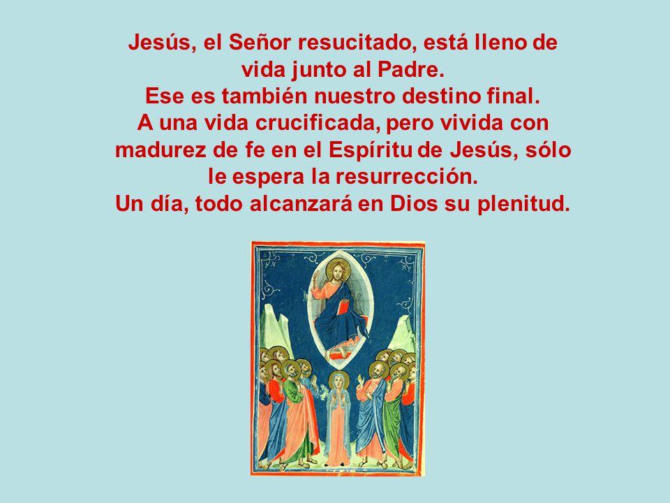 Jesús, el Señor resucitado, está lleno de vida junto al Padre.
