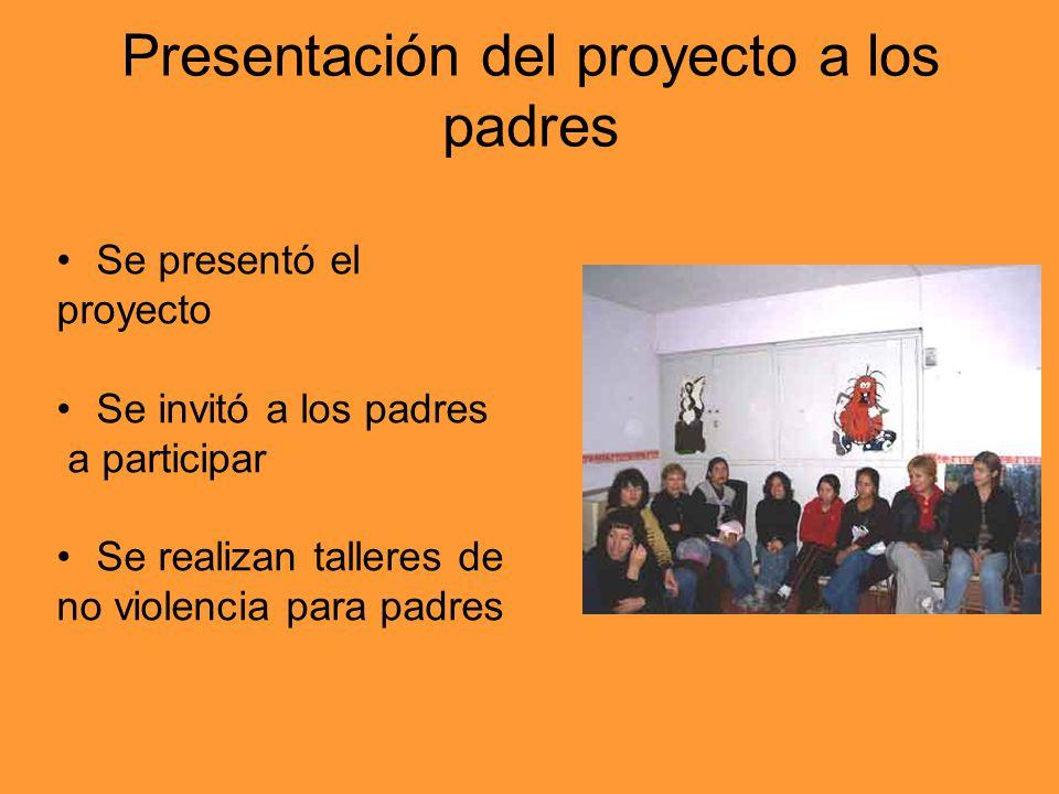 Presentación del proyecto a los padres