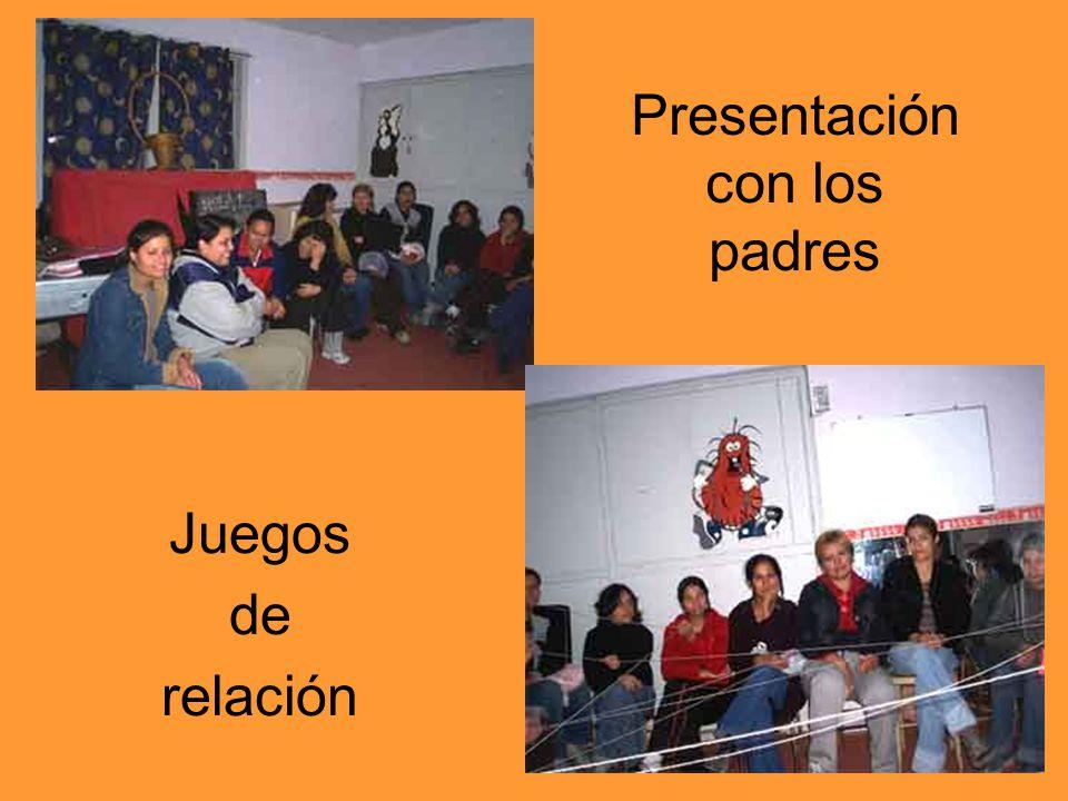 Presentación con los padres