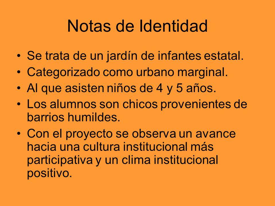 Notas de Identidad Se trata de un jardín de infantes estatal.