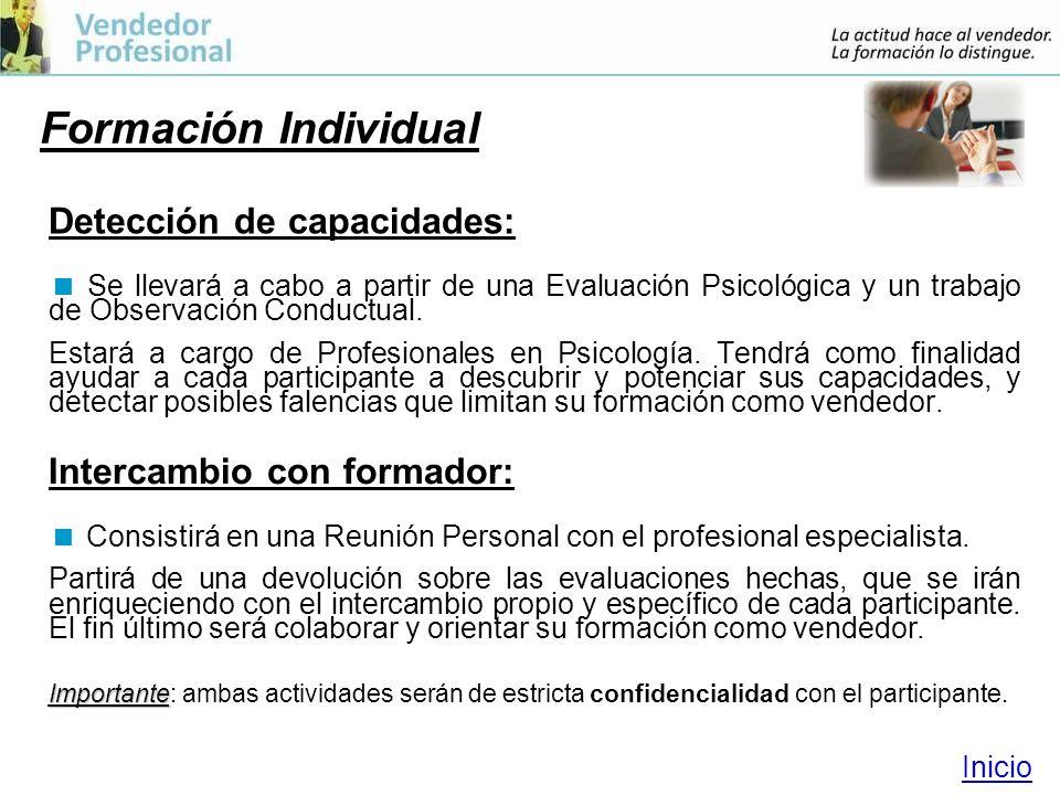 Formación Individual Detección de capacidades: