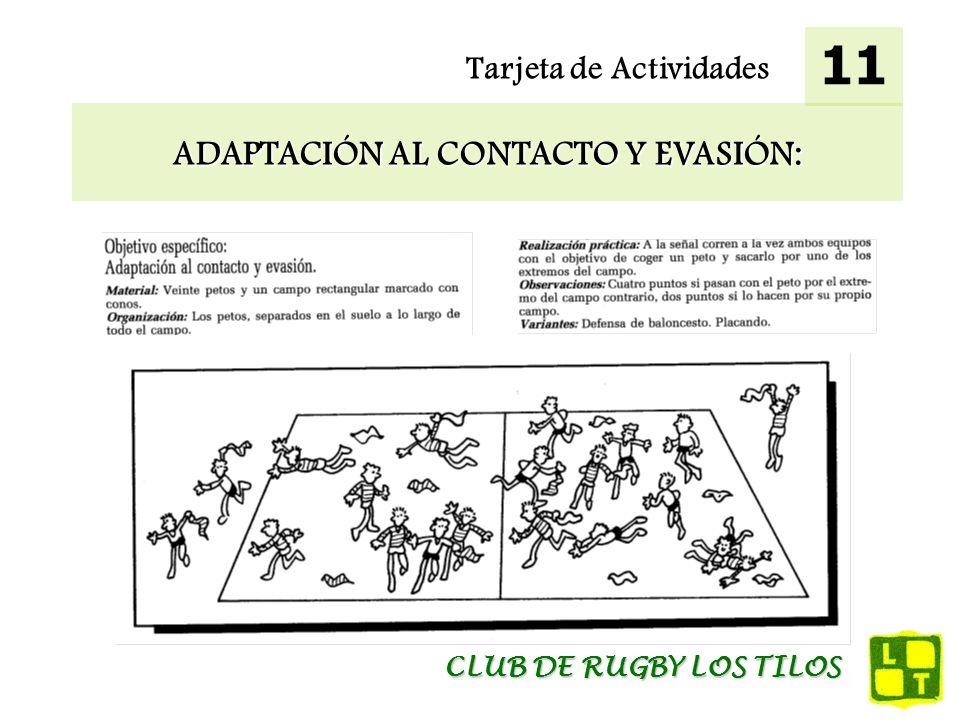 ADAPTACIÓN AL CONTACTO Y EVASIÓN: