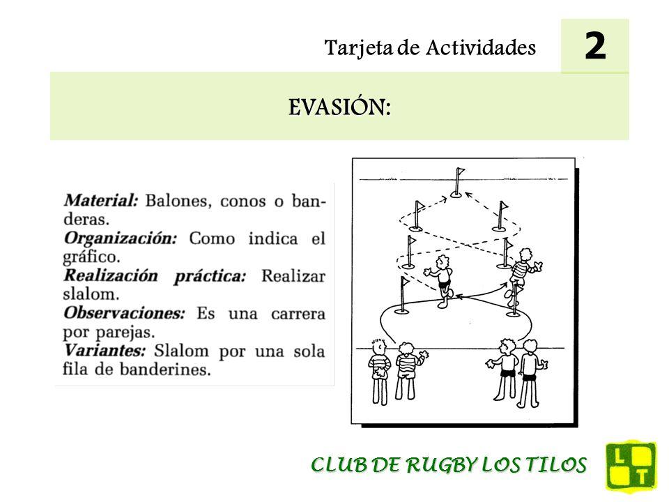 2 Tarjeta de Actividades EVASIÓN: CLUB DE RUGBY LOS TILOS