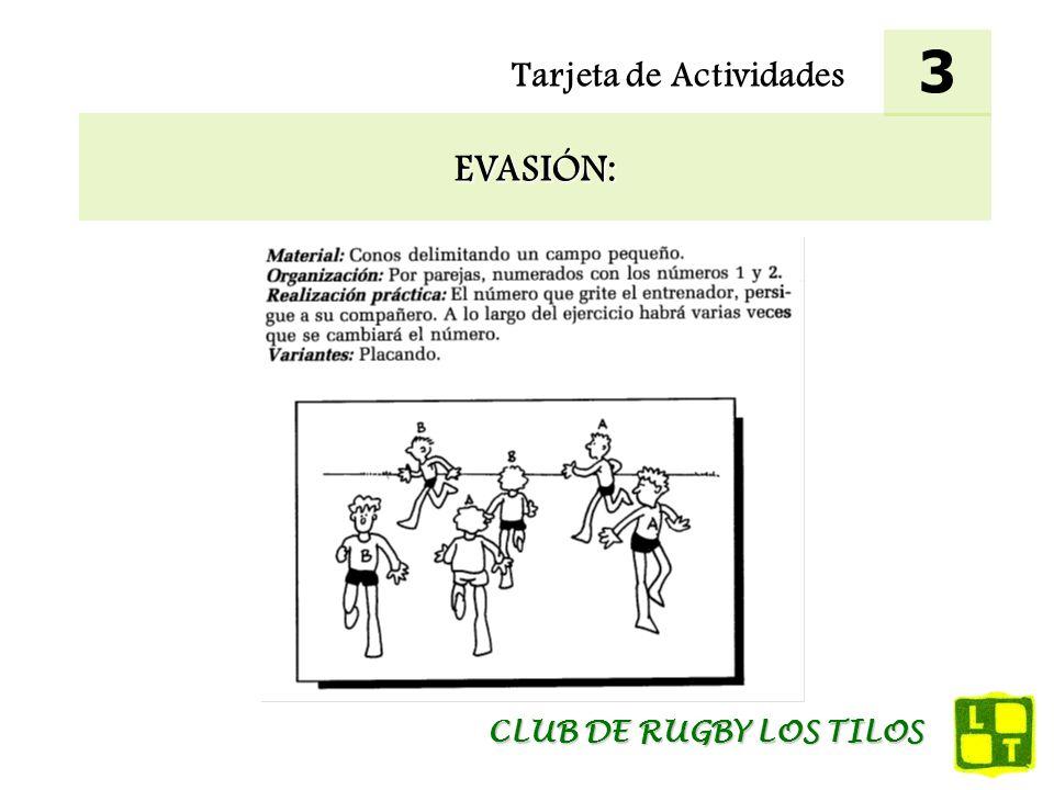 3 Tarjeta de Actividades EVASIÓN: CLUB DE RUGBY LOS TILOS