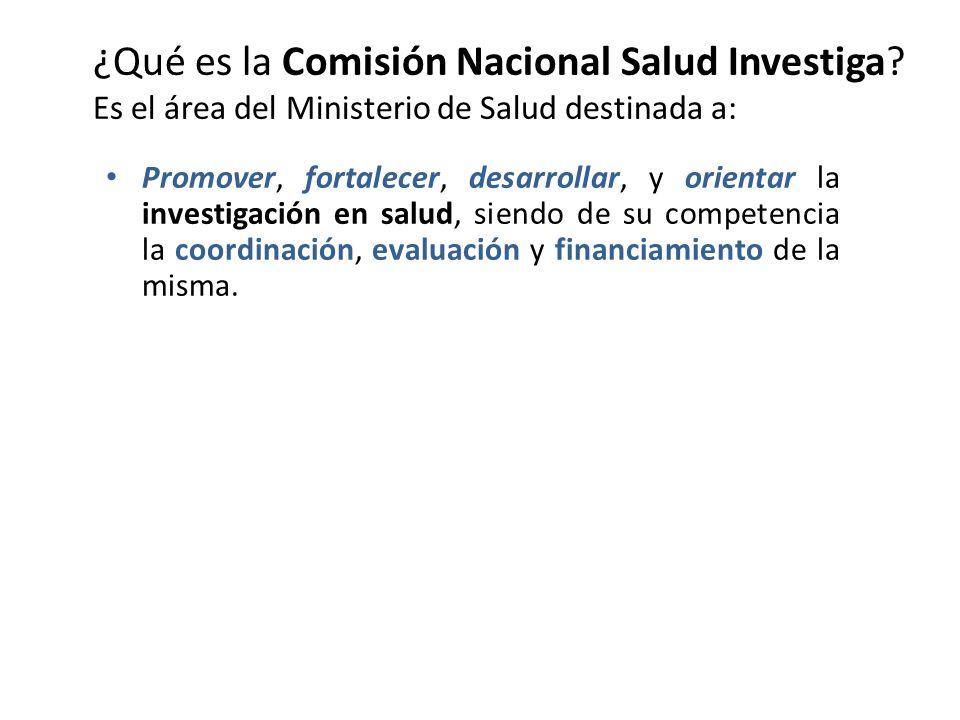 ¿Qué es la Comisión Nacional Salud Investiga
