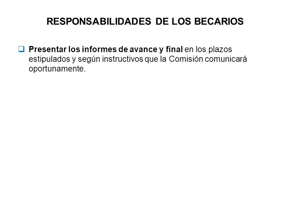 RESPONSABILIDADES DE LOS BECARIOS