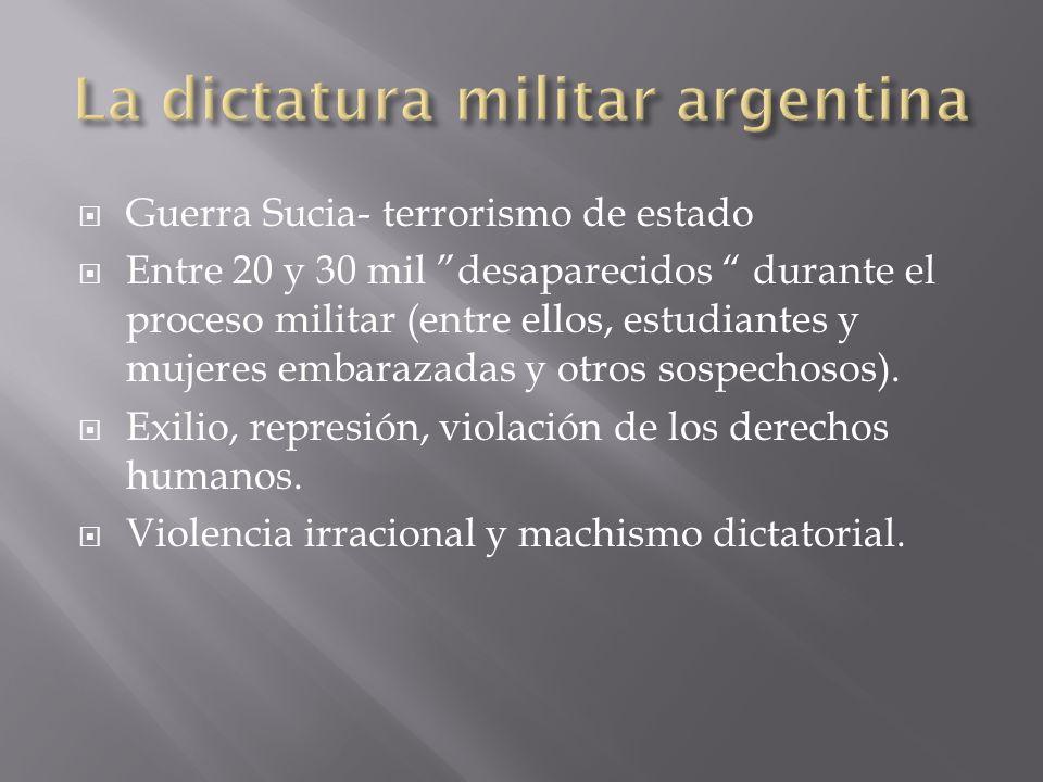La dictatura militar argentina