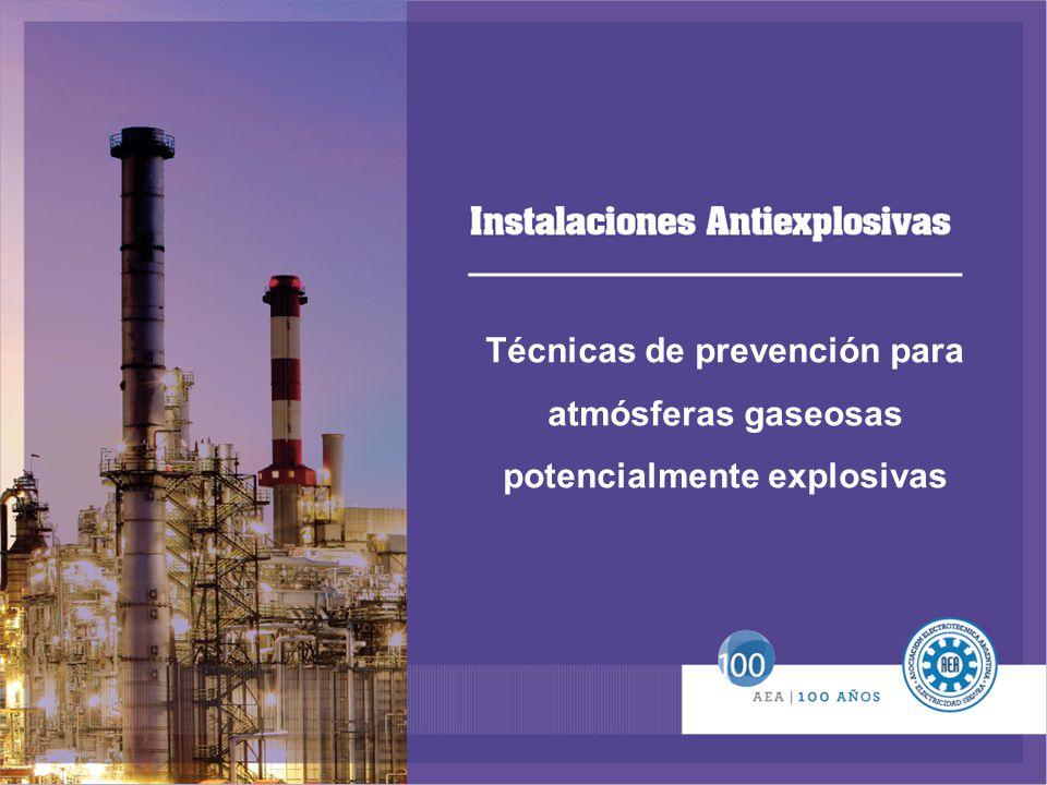 Técnicas de prevención para atmósferas gaseosas potencialmente explosivas