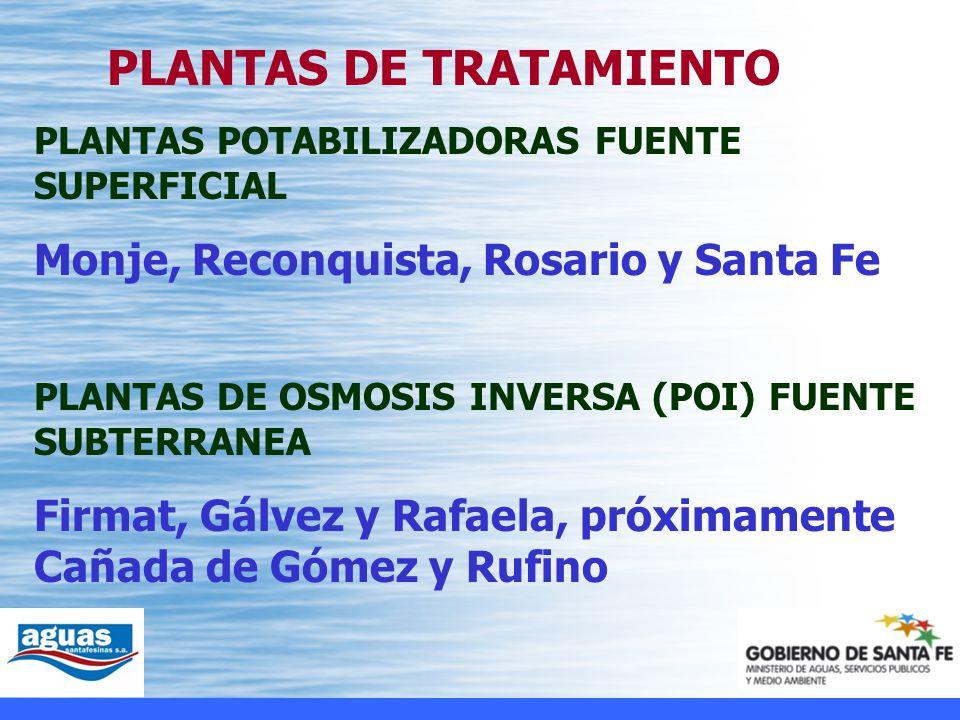 Monje, Reconquista, Rosario y Santa Fe
