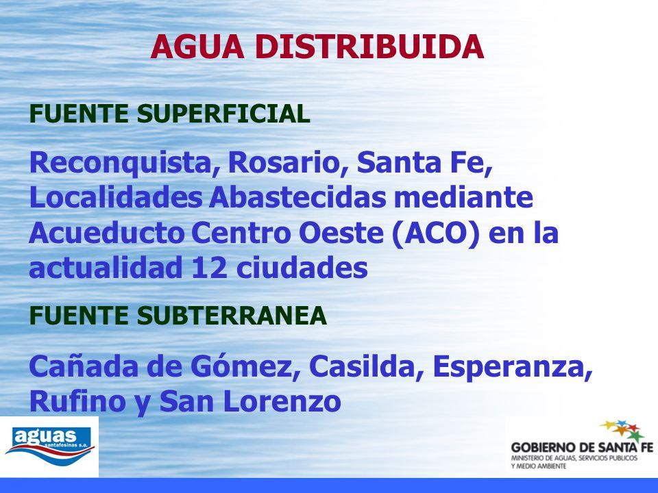Cañada de Gómez, Casilda, Esperanza, Rufino y San Lorenzo