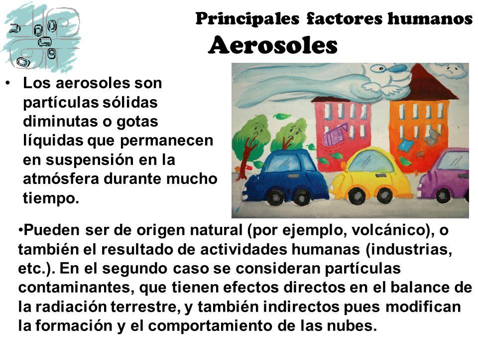 Aerosoles Principales factores humanos