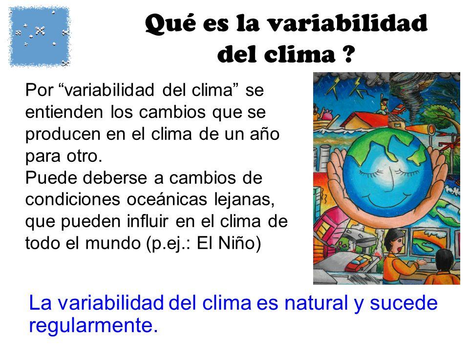 Qué es la variabilidad del clima