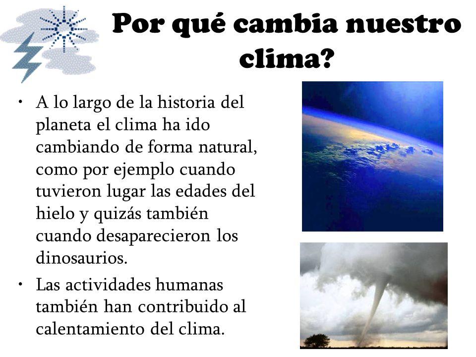 Por qué cambia nuestro clima