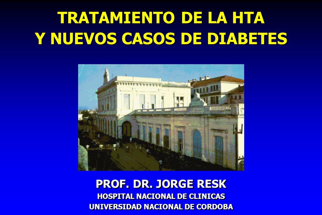TRATAMIENTO DE LA HTA Y NUEVOS CASOS DE DIABETES
