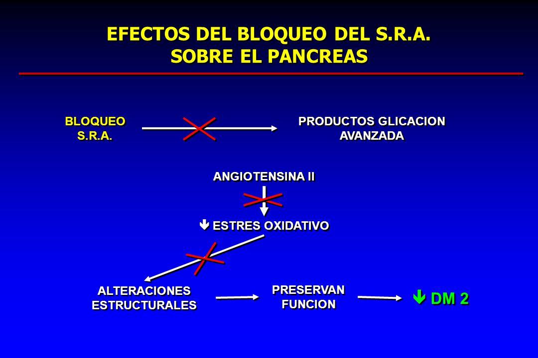 EFECTOS DEL BLOQUEO DEL S.R.A. SOBRE EL PANCREAS