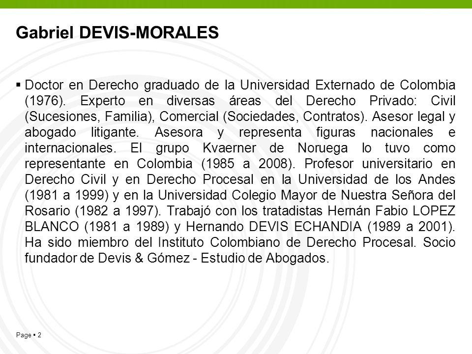 Gabriel DEVIS-MORALES