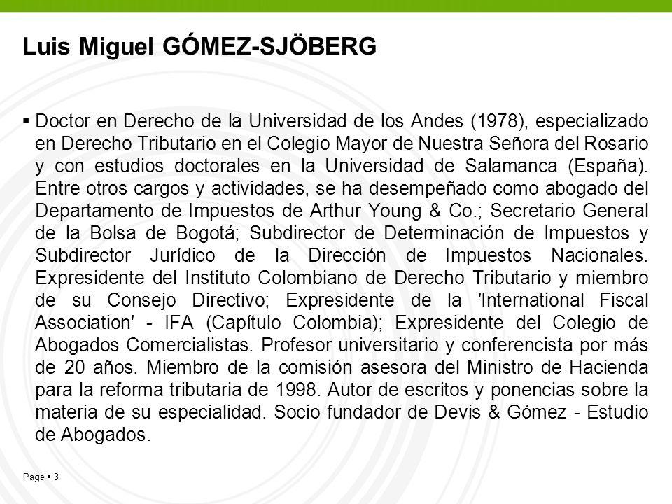 Luis Miguel GÓMEZ-SJÖBERG