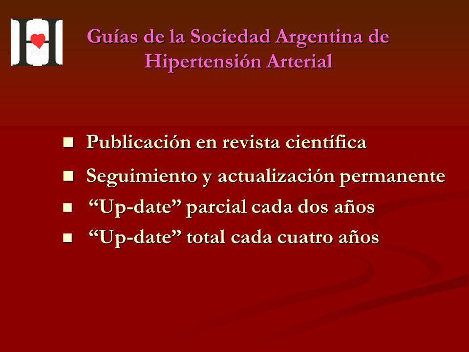 Guías de la Sociedad Argentina de Hipertensión Arterial